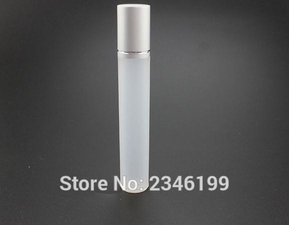 15ML di plastica trasparente su rotolo Bottiglia con perle di vetro acciaio del metallo Perlina, Eye Cream bottiglia del campione, Cosmetici Packaging, 30 pc / lotto