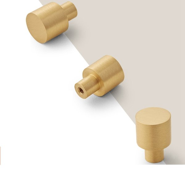 top popular Solid Brushed Brass Gold Kitchen Cabinet Knobs and handles Furniture Drawer Dresser Knobs Cupboard Door Pull Handle Modern design 2021