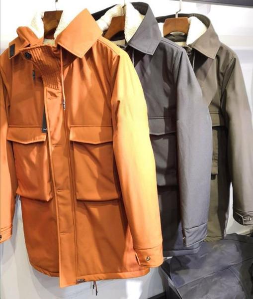 Mens Designer Veste de mode Pierre Imprimer Chapeau réfléchissant long et épais coupe-vent d'hiver style décontracté Taille M-2XL
