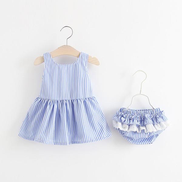 girls dress 2018 Korean style new arrivals children clothing cute stripe cartoon yellow duck skirt +shorts two sets girl kids sets clothes