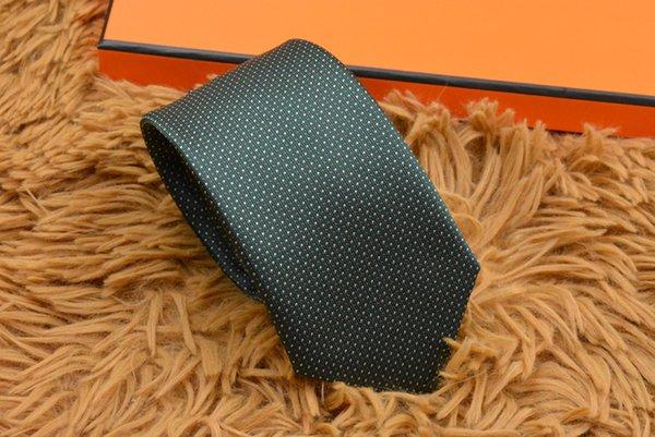 18 stil yüksek kaliteli% 100 ipek kravat marka hediye kutusu klasik baskı lüks erkekler rahat dar kravat 7cm H8917