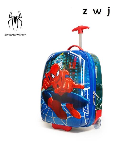 2017 bambino moda nuovo stile bagagli ragazzi e ragazze viaggiano a rotolare bagagli cartone animato carino valigia imbarco