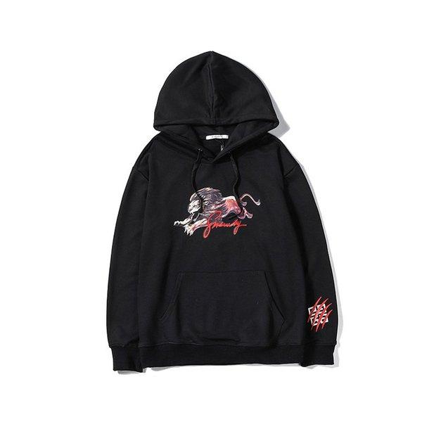 19SS Italia Givency impresión de la letra para hombre con capucha sudaderas con capucha suéteres de algodón Sudaderas Harajuku tapas de las mujeres Streetwear capucha BD58101