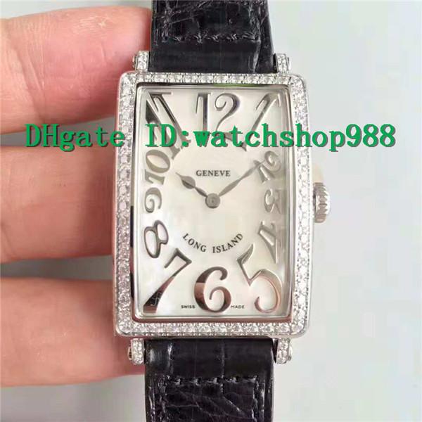 2018 Womens luxury watch LONG ISLAND Watch Swiss Quartz Movement Mother-of-pearl Dial arch 316L Steel Case Diamond Bezel Sapphire