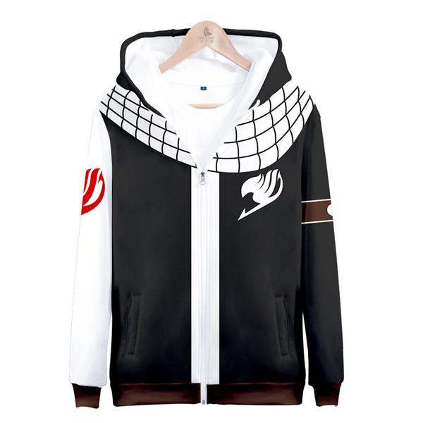 Chemise Bande Dessinée Japon 2019 Fée De La Queue 3d Numérique Amplitude Toute Impression Zipper Pull T-shirts