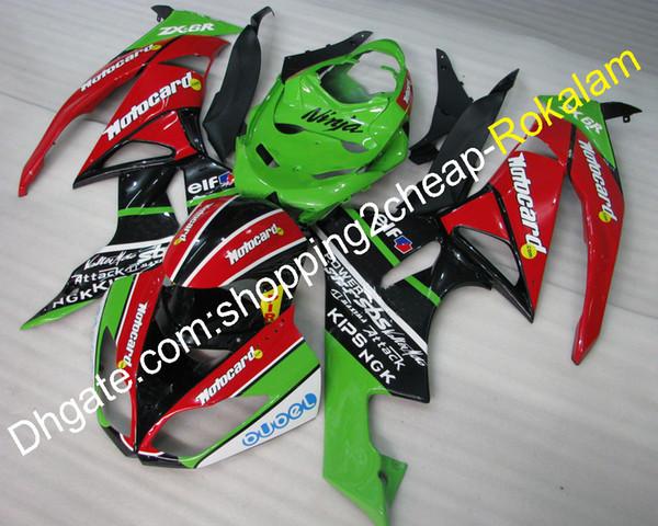 Para el kit de carenado KINKASAKI NINJA ZX6R 09 10 11 12 ZX 6R 636 ZX636 2009-2012 ZX-6R Partes de carenados de motocicleta (moldeo por inyección)