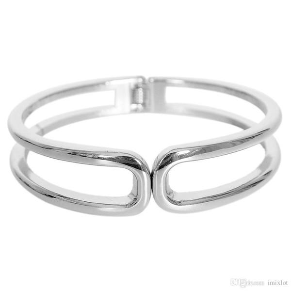 2pcs/lot Gold/Silver Color Cuff Bracelets Hollow Alloy Love Valentine Bangle Bracelets For Women Wholesale Jewelry JBB0065*2