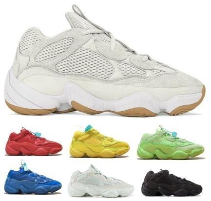 500 Designer coureur de vague Courir Ombre Utilitaire blanc sel os fard à joues Désert de pierre Rat Kanye West Hommes Baskets femme Chaussures Baskets