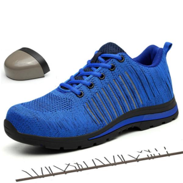 Verão Indestructible Construção Segurança no Trabalho Shoes Men Sneakers Outdoor Proteção Botas Escalada Trekking Tactical Botas