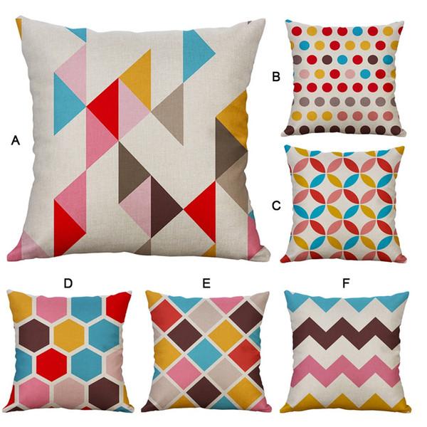 2019 Hot sale Simple Linen Creative Lovely Pillow Cover 1PC Pillowcase orthopedic seat cushion coussins décor la maiso