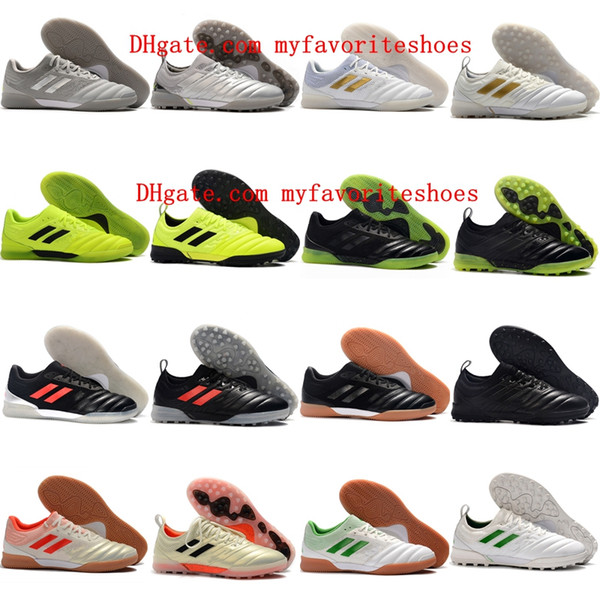 2020 de qualité supérieure chaussures de soccer hommes Copa 19,1 IC TF copa cuir crampons de soccer intérieur 19 chaussures de football Tacos de futbol