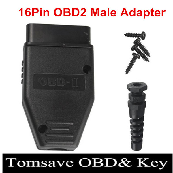 10pcs/Lot New OBD2 16Pin Male Female Connector Plug Adapter OBD OBDII EOBD J1962 OBD2 16Pin Wiring Adapter Shell Wholesale