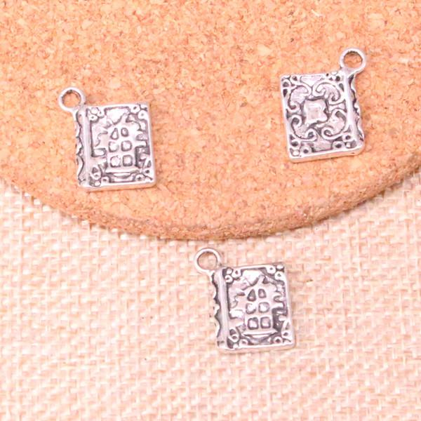92 stücke Antikes Silber Überzogene buch bibel Charme Anhänger fit Machen Armband Halskette Schmuckzubehör Schmuck Diy Handwerk 17 * 11mm