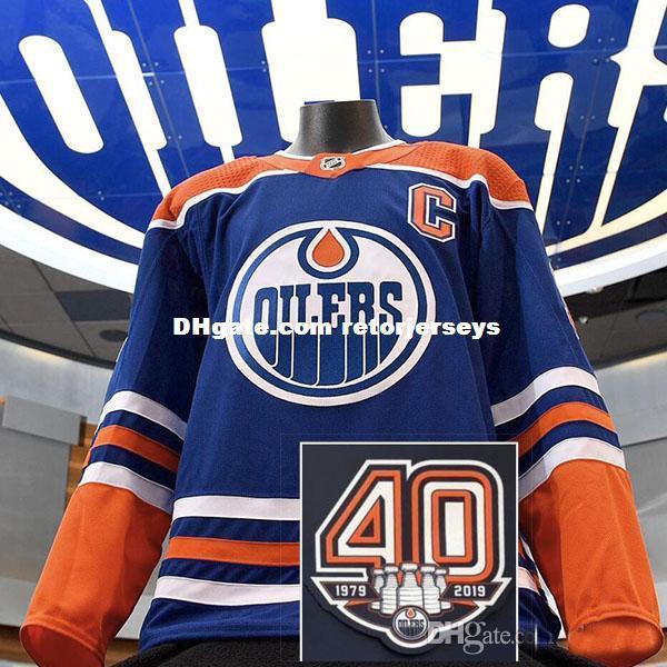 2018 2019 Nueva llegada Venta caliente 40 aniversario Anniversiry Edmonton Hombres de la mujer de los niños de los niños personalizados Cualquier nombre NO camisetas de hockey sobre hielo