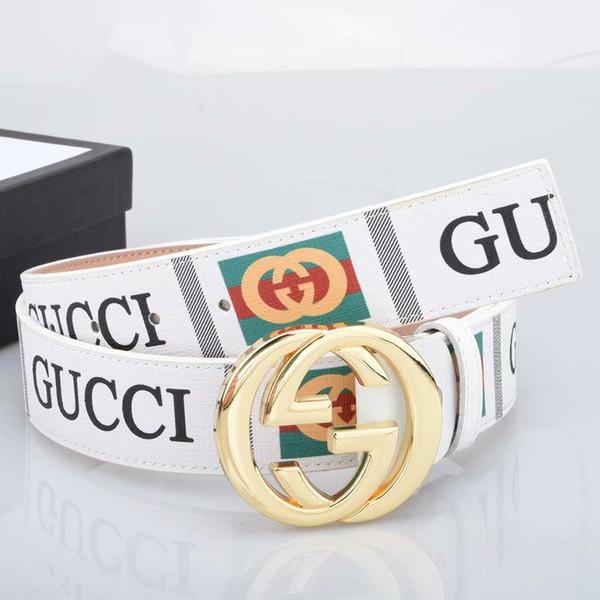 huang168168 / Hot selling 2019 Big large buckle genuine leather belt designer belts men women high quality new mens belts luxury belt as gift