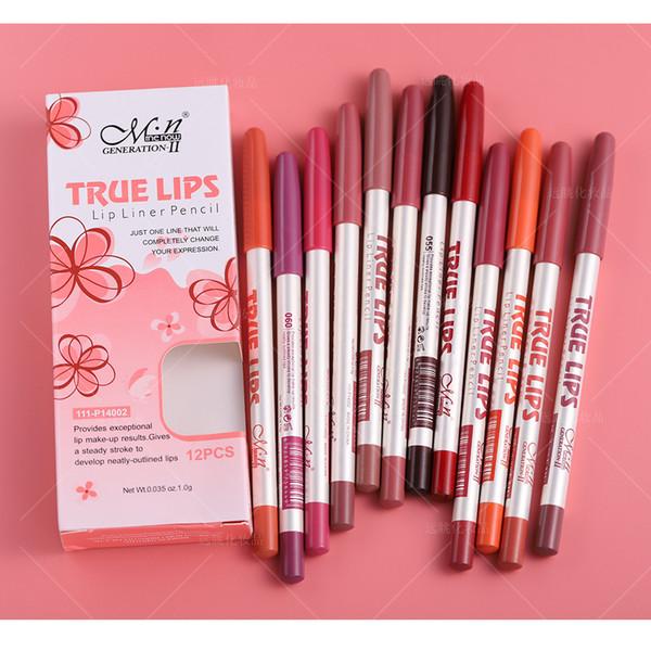 M.N MENOW Brand Make Up Lips 12Color Lip Liner Pencil أدوات تجميل مستحضرات التجميل