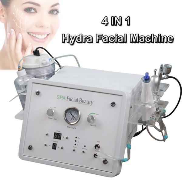 4 in 1 taşınabilir hydra kabuğu makinesi hydra elmas ucu mikrodermabrazyon makineleri ultrasonik cilt scrubber kullanılan ultrason ekipmanları