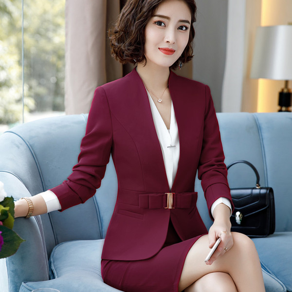 Винное пальто и юбка