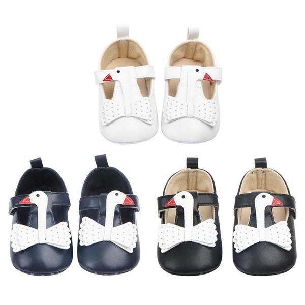 Soft Sole Infant First Walkers Newborn Baby Prewalkers Cute Swan Baby Girls Shoes Anti-Slip Toddler Prewalker Princess Shoes