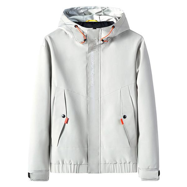 Além disso, homens Tamanho jaqueta Outono Inverno 2019 Moda masculino streetwear Casual Hoodie Zipper exterior Desporto Men Brasão jaqueta