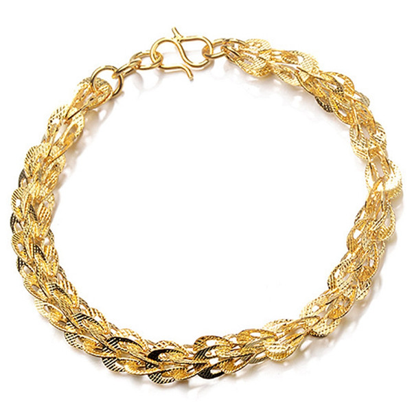 Fashionable Rope Glod Chain Decoration Bracelet For Men & Women Punk Bracelets Jewelry