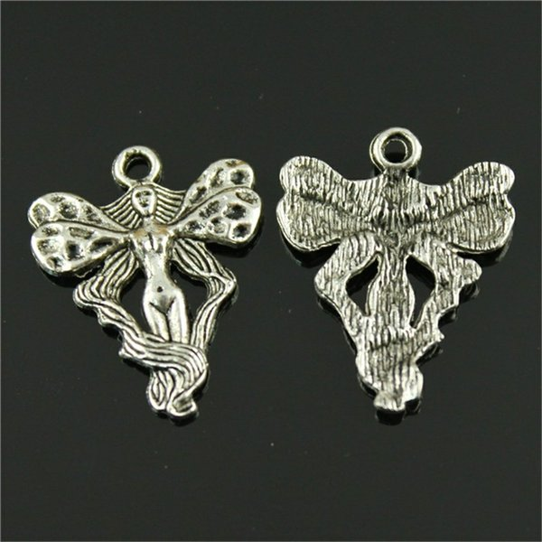 150pcs Vintage Metal Angel Charms Charms Angel Fairy Guardian Angel Charms For Jewelry Making Accessories 18x23mm
