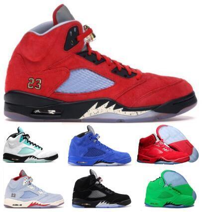 Mens 5 5s zapatos de baloncesto zapatillas de deporte de ante Green Island Trophy Room Michigan Alas Olímpico Bred mujeres 2020 nuevos de la llegada zapatos de lujo Chaussure