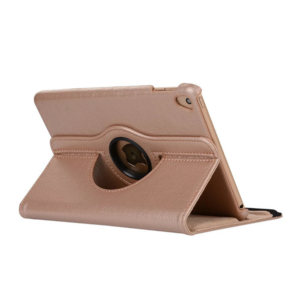 2019 hot sale color for ipad pro case Litchi grain PU leather tablet case 360 rotating flip stand for Ipad case