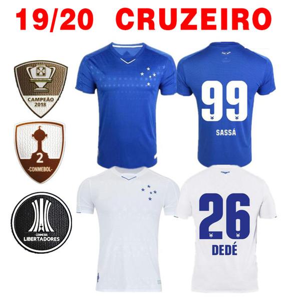 Новый 2019 Крузейро футбол Джерси 19 20 Brazil DE ARRASCAETA FRED ROBINHO THIAGO NEVES футбольная рубашка Крузейро главная Brasil club Camisas
