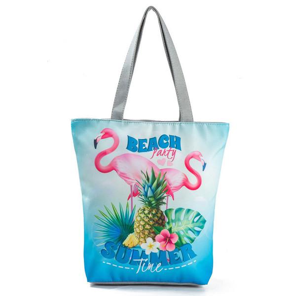 Gute qualität Sommer Obst Design Ananas Gedruckt Umhängetasche Frauen 3d Gedruckt Sommer Strandtasche Große Kapazität Tote Handbga Dame
