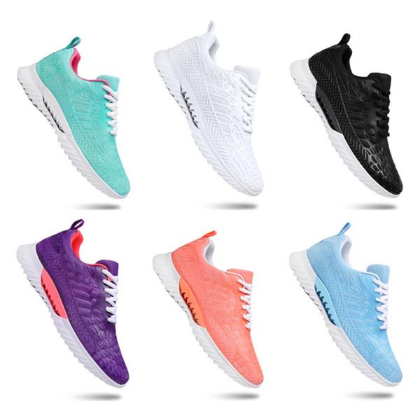 2020 otoño nuevo entero de la venta ocasionales de los hombres zapatos de mujer negro verde blanco de malla transpirable zapatillas de deporte entrenadores deportivos zapatillas de deporte tamaño 36-45