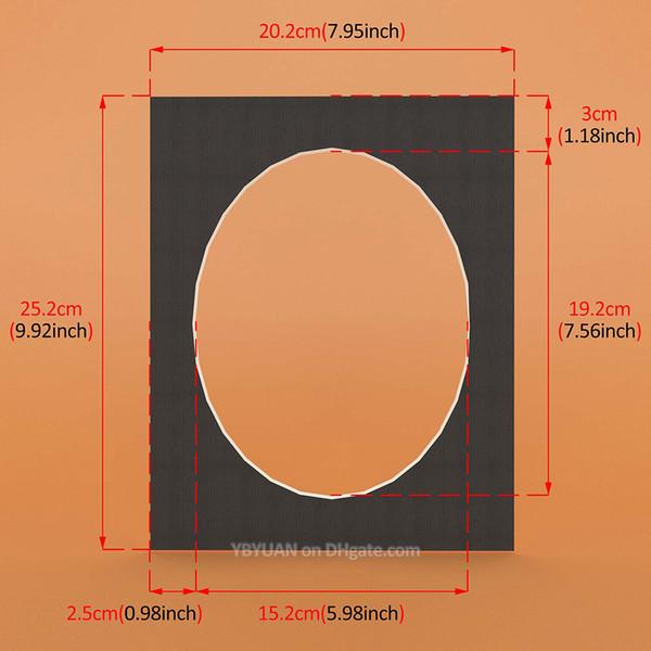 Siyah Oval 10x8 inç