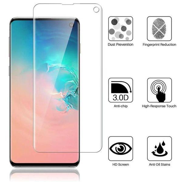 For Samsung Galaxy S10 Plus S10E Soft TPU Screen Protector Film Fingerprint Sensor Compatible Full Cover Screen
