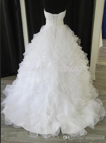 2019 Autual Images Casamento Wedding Dress Sequined Sweetheart Lace Up Bridal Dresses Gown Long Vestido De Noiva