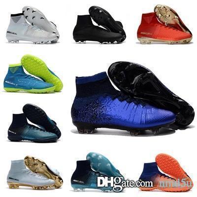 Nike Zapatos de futbol 2019 tacos para hombre Mercurial Superfly V Ronalro FG interior zapatos niños botas cr7 niños botas neymar Rising Fast Pack barato