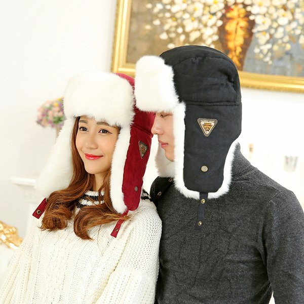 Winter New Warm Ear Cap Lei Feng Hat Cold Windproof Hat Outdoor Travel Fashion Couple Hat