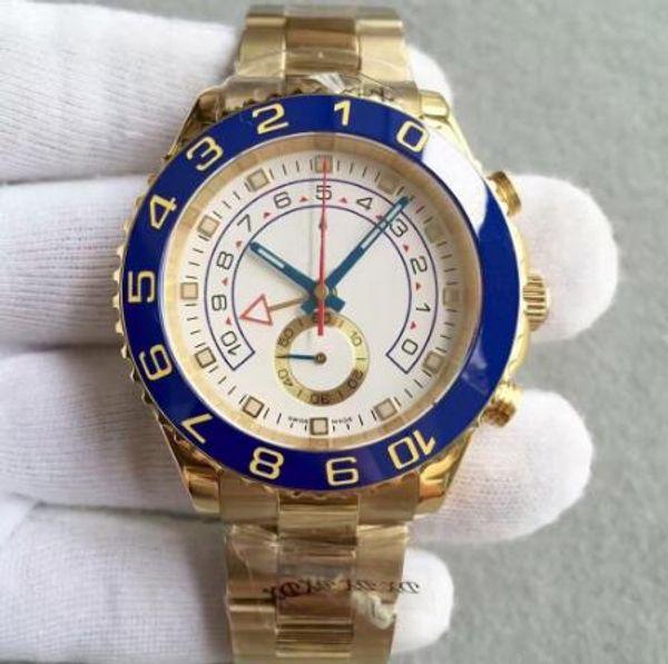 Top brand luxury men's watch YACHT 116688 44mm automatic mechanical ceramic bezel sapphire glass automatic movement mens watches