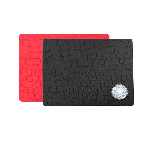 1PCS для всех Land Rover Benz Jaguar Черный Розовый Автомобиль Dashboard противоскольжения площадку мобильного phoneTrim Рамка