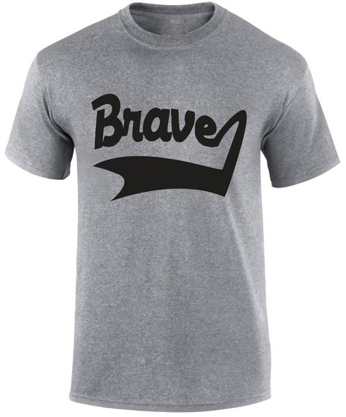 Brave Label Motivational Positive Thinking Theraphy Sports Game Gym T-shirt