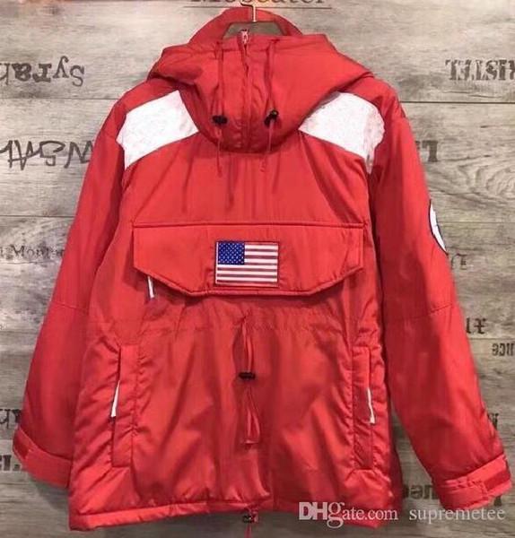 Новое сотрудничество куртка SS17 Gore-Tex пуловер флис толстовка пуловер крутые технологии с капюшоном куртки синий черный красный белый красный 5 цветов