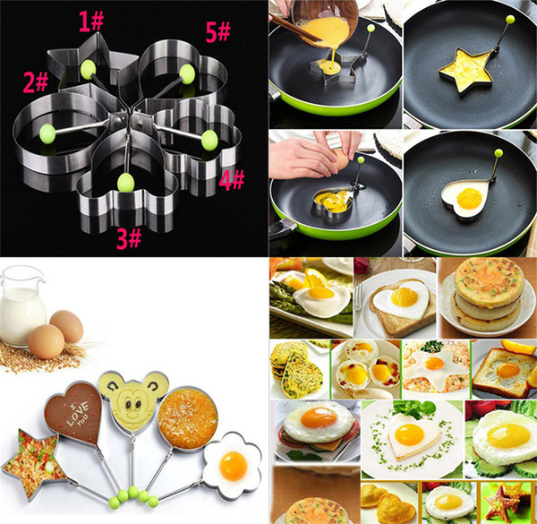 Stainless Steel Fried Egg Shaper Pancake Mould Mold Kitchen Cooking Tools Kitchen Fried Egg Shaper Ring Pancake Mould dc426