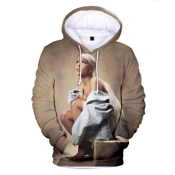 3D Print Ariana Grande Hoodie Sweatshirts men's/women Clothing Streetwear Harajuku Hooded Hip Hop Pullovers Coat clothing