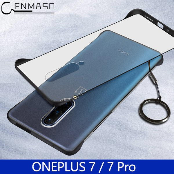 For Oneplus 7 Pro Case Luxury Ultra Thin Gift Ring Matte Transparent Back Cover For iphone XS MAX XR X 7 8 Plus 6S Shockproof Case Funda