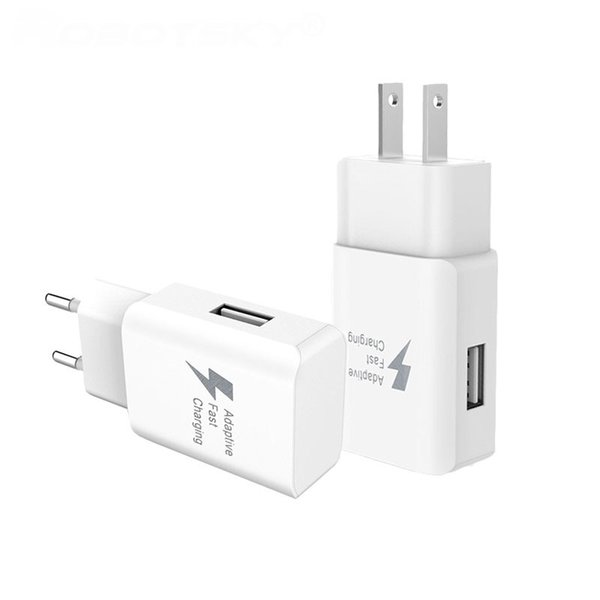 Caricatore veloce USB power 5V 2A / 9V 1.67A EU US Plug Travel Caricatore da muro adattatore per iphone ipad per Samsung S6 S7 telefono Android