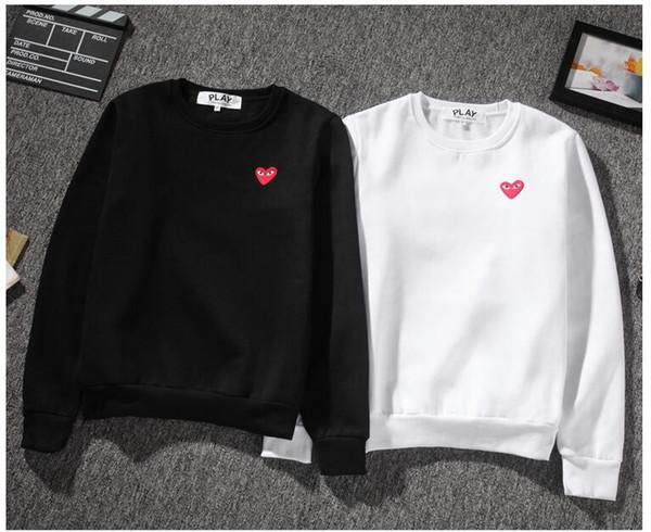 Nueva llegada de la manera corazón rojo sudaderas mujeres de los hombres suéter de cachemira de deporte abrigos Hip Hop Pablo temporada monopatín Sudaderas Tops