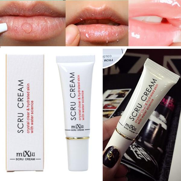 top popular Mixiu New Professional Moisturizing Full Lips Cosmetics Remove Dead Skin MIXIU Brand Propolis Lip Care Exfoliating Lip Scrub Cream 2021