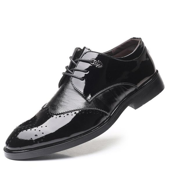 Brogue Shoes Men Classic Formal Italian Shoes Men Office Coiffeur Wedding Shoes Men 2019 Zapatos De Hombre Buty Strappy Heels Geox Shoes From