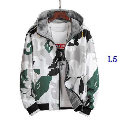 Мода мужская куртка с печатной роскошью осень и зима мужская дизайнер двухсторонний камуфляж пальто куртки топы высокое качество ClothesE