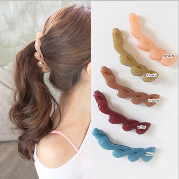 1 Pc Fashion Girls Clamp Banana Hair Grip Clip Korean Hairpin Ponytail Holder Women Headwear Accessories Hair Braiding Tools