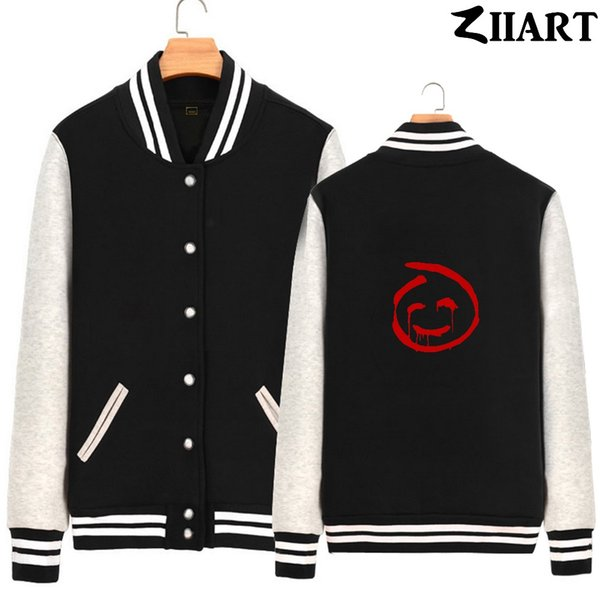 red john the mentalist faces couple clothes man boys full zip autumn winter fleece baseball jackets ziiart